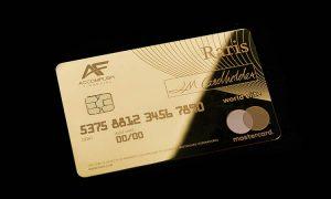The Royal Mint brengt massief gouden creditcard op de markt