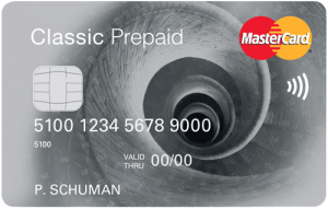 Mastercard Classic Prepaid Creditcard