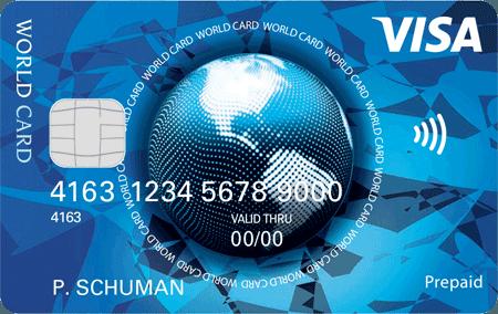 prepaid visa world card