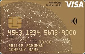 visa world card business gold