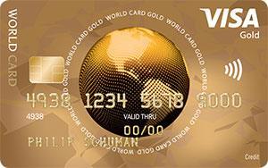 visa world gold card